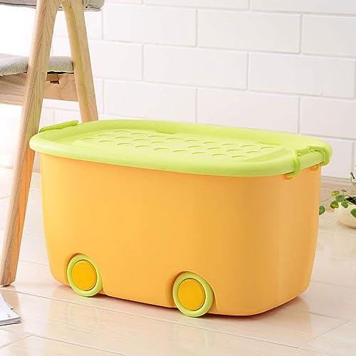 Shhaljj Boîte de Rangement en Plastique Jouet Boîte de Rangement Boîte de Rangement avec Boîte de Rangement de poulie avec Couleur de Couverture (Couleur   Orange, Taille   57  39  31CM)