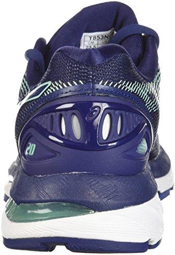 ASICS Women's Gel-Nimbus 20 Running Shoe, indigo blue/indigo blue/opal green, 7 Medium US 3