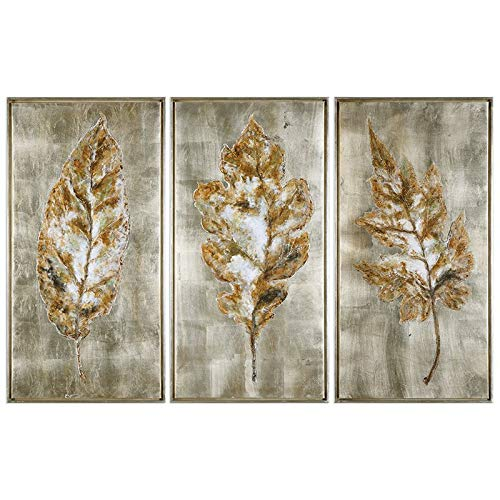 Uttermost Grace Feyock 3 Piece Leaf Canvas Painting Set