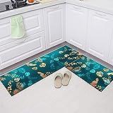 HLXX Set di tappetini da Cucina in Stile Europeo Zerbino d'ingresso Armadio per la casa Scarpiera Decorazione Tappetini Lunghi Tappetino Antiscivolo per Bagno A13 50x80 cm