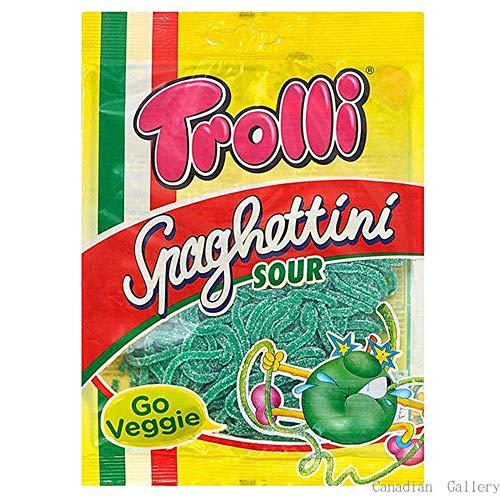 Trolli トローリ スパゲティサワーアップル グミ 100g×4袋セット
