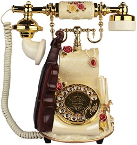 AWAING Telefonos Antiguos Vintage Teléfonos rotativos Retro para teléfono Fijo, teléfono con Cable Teléfono Fijo con dial Giratorio Antiguo para decoración del hogar y la Oficina
