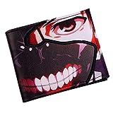 WYTX Cartera Tokyo Ghoul Kaneki Ken Mask Titular de la Tarjeta de crédito Cartera Plegable de Anime