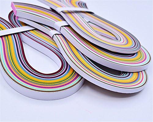 bandes de papier de feuille m/étallique 150 bandes de feuille m/étallique rouge /& vert, effet holographique 5, 7, 10 mm 54 cm de long 3 tailles Quilling-Set m/étallique