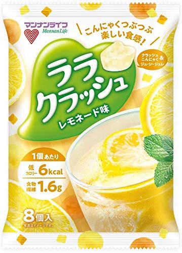 『マンナンライフ ララクラッシュ 5種(オレンジ味・ぶどう味・マスカット味・ソーダ味・レモネード味) 合計5袋』の2枚目の画像