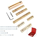 Sellos de Letras Molde de Grabado de Letras Flexibles de latón para máquina de Estampado en Caliente Grabado,Moldes de Estampado Estampar en Cuero Papel Madera
