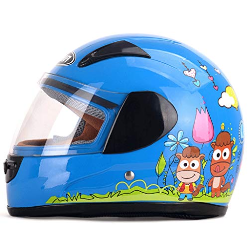 Winter elektrische motorfiets kind helm kind meisje volledige helm cover jongen koud weer seizoen helm