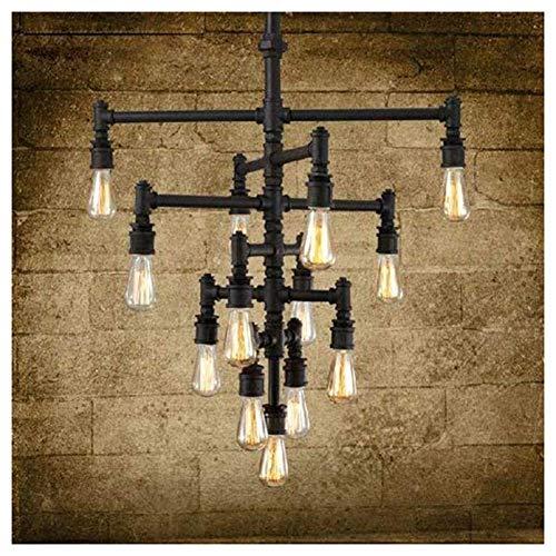 HIMA Vintage Pendant Light Industrial Ceiling Light Steampunk Lamp Black Retro Metal Water Pipe Chandelier E27 steampunk buy now online