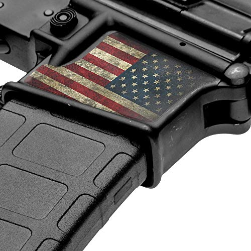 GunSkins Magwell Skin - Premium Vinyl Decal - Easy to Install and Fits AR-15 Lower Receivers - 100% Waterproof Non-Reflective Matte Finish - Made in USA - GS America
