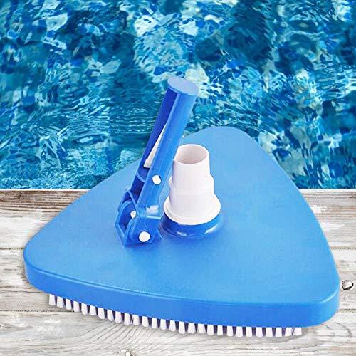 knowledgi Spazzola Aspirafango Triangolare per La Pulizia del Fondo della Piscina, Colore: Blu