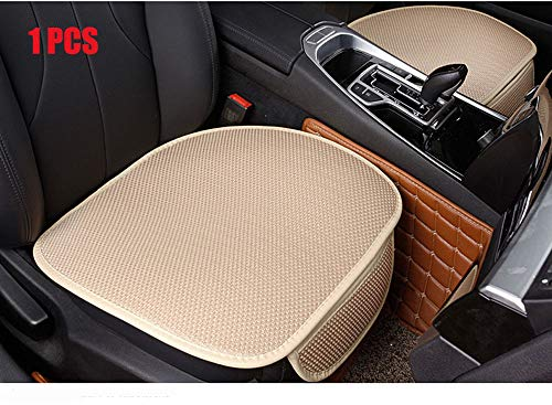 EDEALYN New Universal Antiskid Car Seat Cushion Seat Cover Pad Mat for Auto Accessories Office Chair Cushion Four Seasons General,1 PCS (Beige)