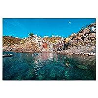 イタリア海辺の風景ポスター印刷画像壁アートキャンバス絵画家の装飾60X90cm24x36インチフレームなし