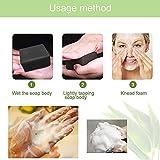 Schwarze Seife,Seife Bambuskohle,Handgemachte Seife,Ideal für Tiefenreinigung, Entschlackender Gesicht,Bamboo Charcoal Facial Soap,handgemachte Aktivkohle Seife - 7