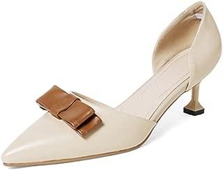 Nine Seven Women's Leather Pointtoe Heel Pumpknot