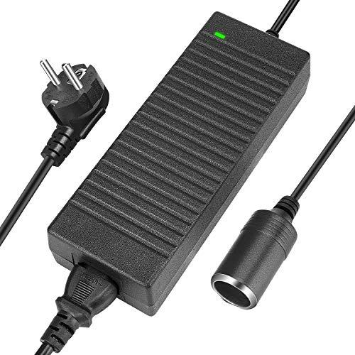 LEDMO Spannungswandler 10A 120W KFZ Netzadapter AC-DC Netzteil Adapter Stromwandler 200V 230V bis 240V auf 12V Zigarettenanzünder Netz-Adapter KFZ-Ladeadapter