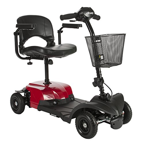Buy Drive Medical Bobcat X4 Compact Transportable Power Mobility Scooter, 4 Wheel, Red