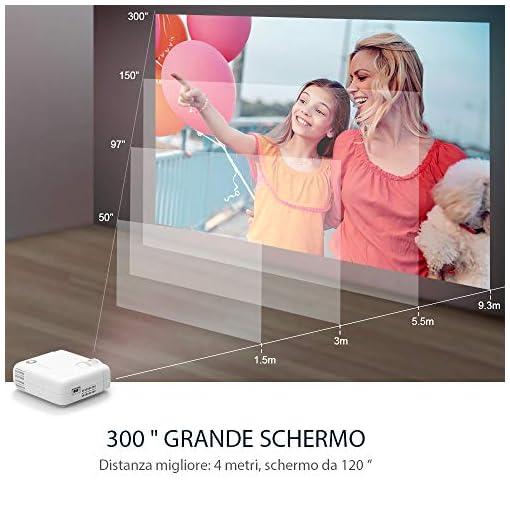 VANKYO Proyector 5000 lúmenes con Pantalla de 236 Pulgadas, soporta 1080P, HiFi Speaker, con Bolsa portátil, para TV… 2