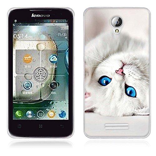 FUBAODA für Lenovo A5000 Hülle, [Katze] Künstlerische Malerei-Reihe TPU Case Schutzhülle Silikon Case für Lenovo A5000