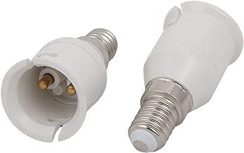 10stk E27 zu B22 Verlängerung Adapter Konverter Lampenfassung Halter Weiß