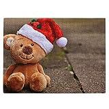 Juguete de Navidad oso de peluche, gorro de Papá Noel, 520 piezas, divertido rompecabezas de fotos c...