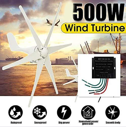 Windkraftanlagen, 500W 12V / 24 V / 48 V 6 Blade-+ Controller-Windkraftanlagen Horizontal Home Windgenerator Energie Windrad Energie Turbinen Lade,12v