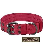 S.Lux ollare di Cane, Collare per Cani Regolabile di addestramento Militare di Nylon del Collare tattico con la Fibbia del Metallo per i Piccoli Cani di Taglia Medio Grande (L/XL)