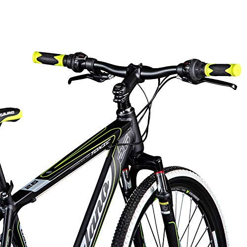 Galano 26 Zoll Toxic Mountainbike Hardtail MTB Jugendmountainbike Jugendfahrrad (schwarz/grün, 46 cm) - 5
