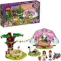 LEGO 41392 Friends Camping i Heartlake City Utomhus Äventyrset med Tält och Olivia och Mia Mini Dockor, Flerfärgad