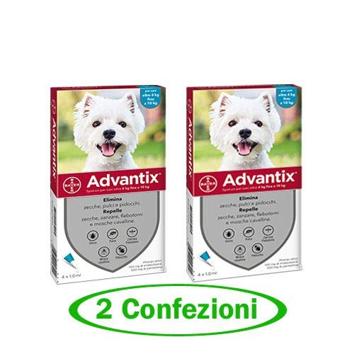 advantix Spot-ON per Cani Oltre 4 kg Fino a 10 kg - Offerta 2 Confezioni