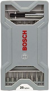 Jogo de pontas para parafusar Bosch Extra Hard com 25 peças