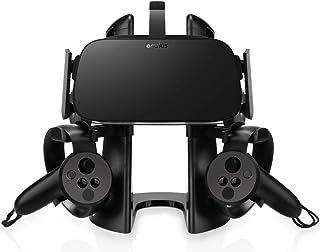 AFAITH Support Stand Casque VR, Présentoir 3D avec Support de contrôleur de Jeu pour Casque Oculus Rift HTC Vive Oculus Ri...
