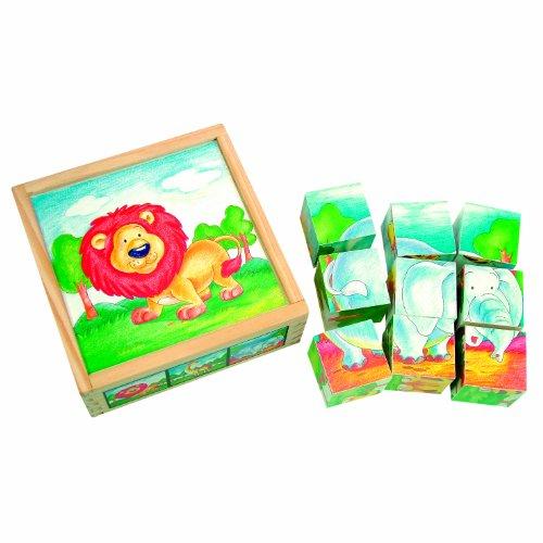 Bino Europe- Cubos con dibujos, animales salvajes (84174) , color/modelo surtido