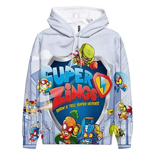 Superzings Equipaje Sudadera Suave de algodón Sudadera de Hombro Fino Outwear Outwear...