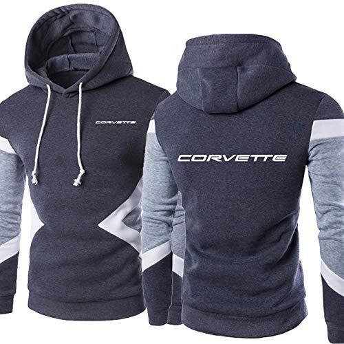 S-vision Sudadera con Capucha para Hombre Corvette - Chaqueta con Capucha Unisex de Manga Larga Estampada Informal con Capucha - Regalo para Adolescentes