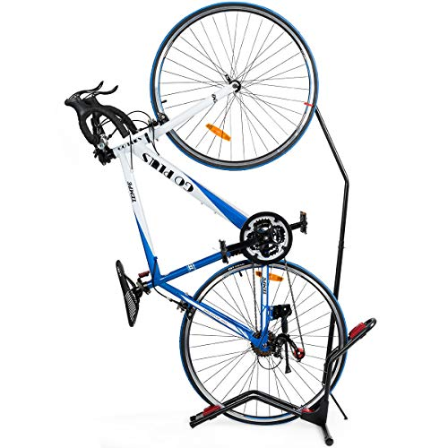 Multigot Bike Stand, Adjustable Space-Saving Bicycle Rack with Rubber Base, No Drilling Bike Holder for Home, Garage & Office