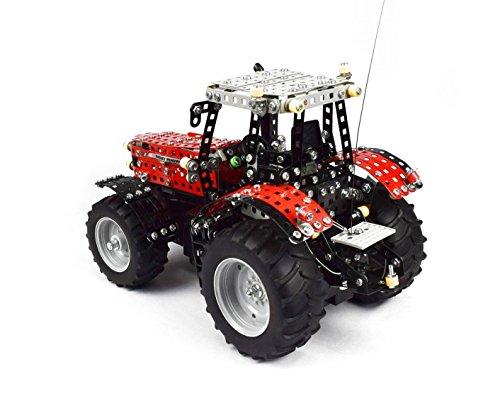 RC Traktor kaufen Traktor Bild 1: Tronico 10084 - Metallbaukasten Traktor Massey Ferguson MF-8690 mit Fernsteuerung, Profi Serie, Maßstab 1:16, 726-teilig, rot*