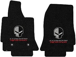 Corvette Floor Mats with Corvette Racing Script and Jake Skull Logo - Lloyds Mats : Fits C7 Stingray, Z51, Z06, Grand Sport