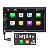 Binize 7 inch Touchscreen Apple Carplay MP5 Player 7 Car Stereo Radio Receiver/Audio Player/Bluetooth/FM,Support Reversing Image Input/Steering Wheel Control/USB/Remote