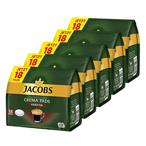 Jacobs Kaffeepads Crema Pads, Kräftig, Intensiver & Vollmundiger Geschmack, Kaffee, 80 Pads