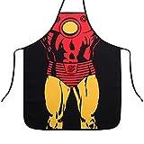 P.LOTOR Novità Grembiule Fumetto Grembiule Divertente Cameriera Cucina Barbecue Grembiule da Cuoco e Lavaggio Grembiule, Iron Man