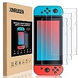 XRSC - Pellicola protettiva per Nintendo Switch, in vetro temperato per Nintendo Switch, protezione protettiva in vetro per interruttore [infrangibile][antigraffio] [durezza 9H] [senza bolle]