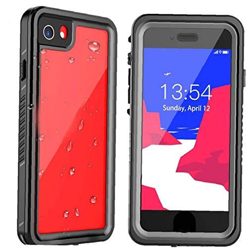 Tuimiyisou Funda Protectora del Protector de teléfono Compatible con el iPhone SE 07.08.2020 absorción de Choque Impermeable de la Caja Negro ClearProtector