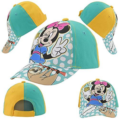 Licensed Kinder Mädchen Baseball Cap, Sommer Sonnenhut Frozen, Minnie Mouse, Shimmer & Shine 3+y Gr. S , Minnie Maus (grün und gelb).