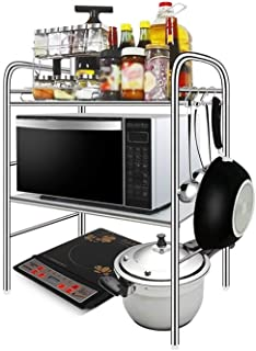 ZHFZWJ QFFL Estantes de Cocina EstanteríaRejilla para Horno de Microondas de 2 Niveles Mostrador de Cocina Y Estante pa...