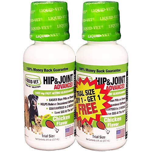Liquid-Vet K9 Hip & Joint Advanced Formula, Chicken Flavor, 8 oz Bogo Trial Pack