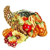 Fitz and Floyd Bountiful Harvest Ceramic Cookie Jar, Standard, Multicolored