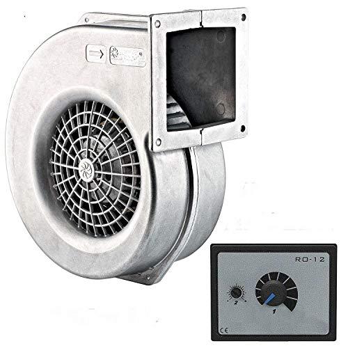 395m3h ALU Industrie Gebläse und 500 Watt Drehzahlregler, Druckventilator Kühlgebläse Ventilator Druckgebläse Heizungsgebläse Heizungsventilator Lüfter Radialgebläse Holzvergaser