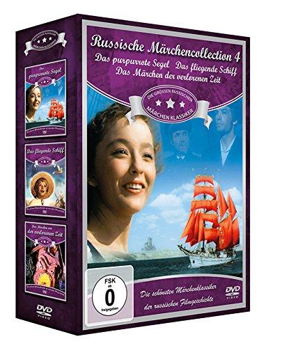 Russische Märchen-Collection 4 (3er-Schuber: Das purpurrote Segel - Das fliegende Schiff - Das Märchen von der verlorenen Zeit) [3 DVDs]