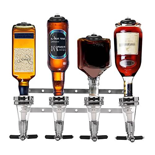 Trintion 4 Bottles Wall Mounted Dispenser Bar Drinks Stand Holder Wall...