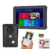 JINPENGPEN Video Door Phone,9 Inch Wired WiFi Video Door Phone Doorbell Intercom...